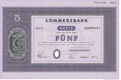 Commerzbank AG Frankfurt a.M. Inhaber-Aktie über 5 DM von 1996