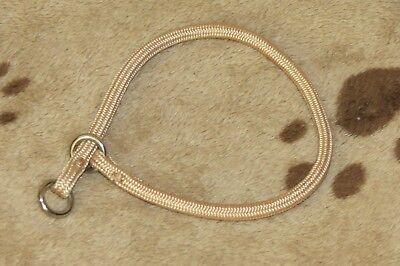 Tan Nylon Choke Collar (Dog Pet Puppy Training Supplies Round Braid Nylon Choke Collar Tan 12