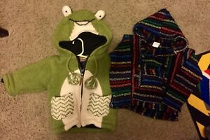 Super cute froggy fall knit coat and knit sweater