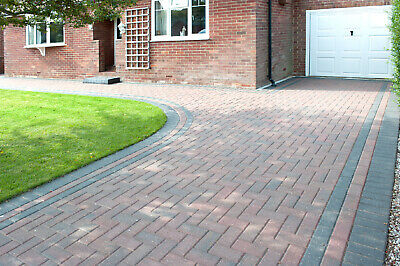 9.76m² Single Size 200x100x50mm Smooth Driveway Block Paving Brindle