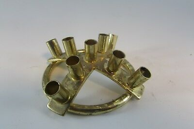VINTAGE  Mid Century 70´s 9 Candle Holder Made In Denmark BRASS CANDLE HOLDER