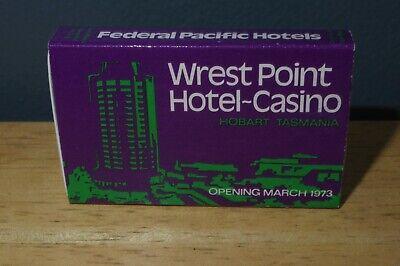 Vtg Wrest Point Hotel Casino Hobart Tasmania Federal Pacific Matchbox Unstruck