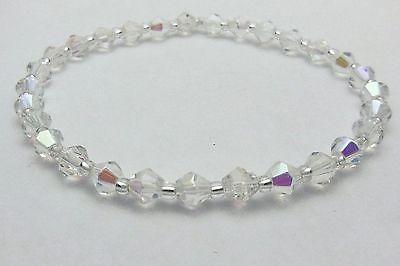 """Celestial Crystal AB Stretch Anklet Ankle Bracelet -9 1/2"""""""