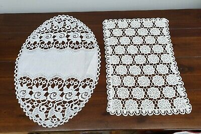 Assortment of Vintage Linen Place Mats Crotchet