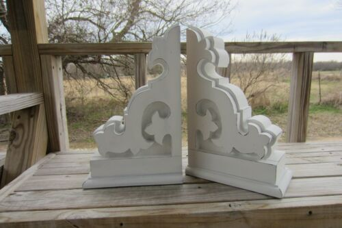 White Corbel Pair, French Country Corbel Pair, Solid Wood Corbels Set Of 2