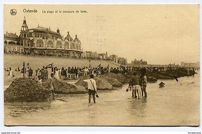 CPA - Carte postale-Belgique- Ostende - La Plage et le concours de Forts -1929