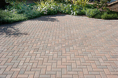 9.76m² Single Size 200x100x50mm Smooth Driveway Block Paving Burnt Oak