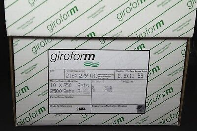 8.5 X 11 2 Part Giroform Carbonless Paper Reverse 2500 Sets 5000 Sheets
