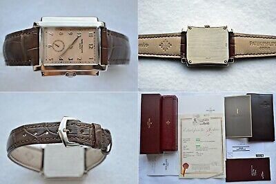 Patek Philippe Gondolo Salmon Dial 18K White Gold Alligator Leather 5024G