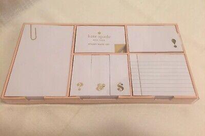 Kate Spade New York Strike Gold Sticky Note Set - New
