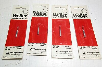 4 New Weller Soldering Iron Replacement Tips  Mp133 - Fits Mp126 Iron
