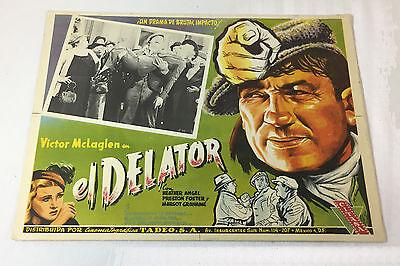 THE INFORMER Movie LOBBY CARD~Victor McLaglen~el Delator