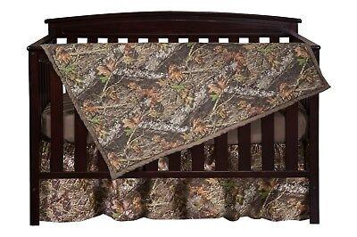 Mossy Oak Camo Crib Set Bedding, Sheet Skirt Blanket Camouflage Baby Toddler Camouflage Crib Sheet Sets