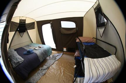 Family Canvas Tent with AL Frame, Tarp and Corner O rings Noosaville Noosa Area Preview