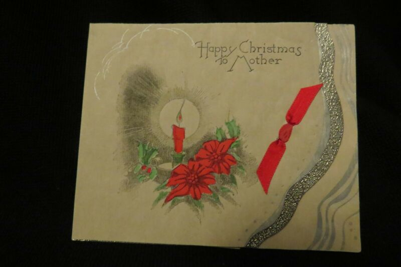 Vintage ART DECO Mother Christmas Card c. 1920s UNUSED