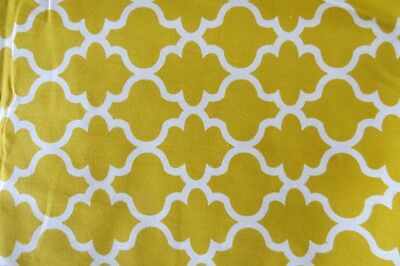 100  Cotton Quilt Fabric Brother Sister Design Studio 2 Yards Gold Tile Print
