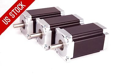 Us Free Ship 3pcs 57bygh Nema34 Stepper Motor 1232oz 5.6a 4wires For Cnc Kits
