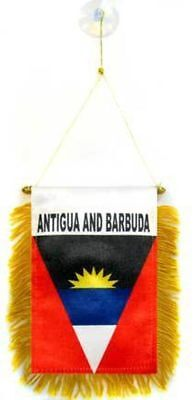 Antigua and Barbuda MINI BANNER FLAG GREAT FOR CAR & HOME WINDOW MIRROR (Antigua Flag)
