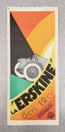 1928 Studebaker Erskine Sales Folder - (French)