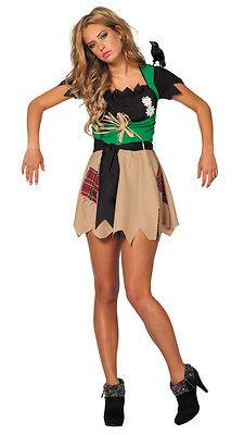 Vogelscheuche Damenkostüm NEU - Damen Karneval Fasching Verkleidung Kostüm ()