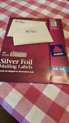 Lot Of Avery Silver Address Labels For Inkjet 34 X 2-14 240 Labels 8986