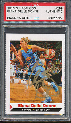 2013 S I  For Kids  259 Elena Delle Donne Signed Rc Psa Dna Certified Auto