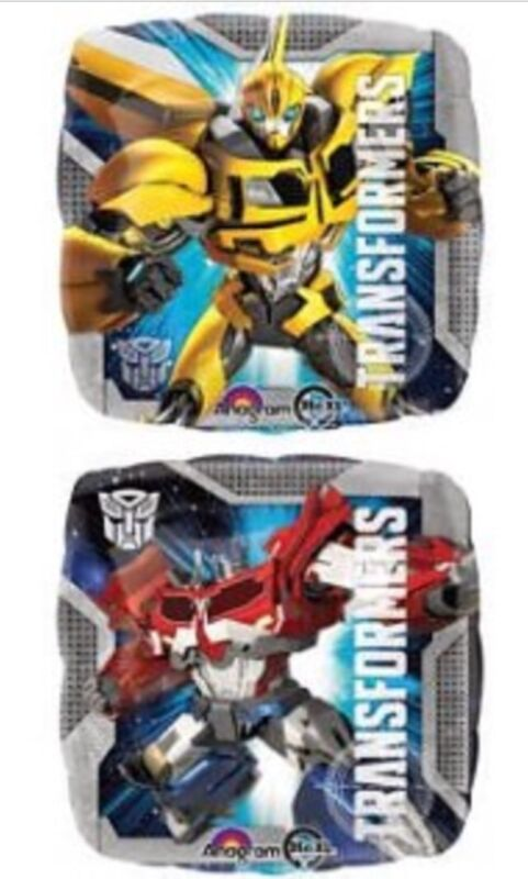 Helium+Foil+Balloon+17%E2%80%9D+TRANSFORMERS+BUMBLEBEE+OPTIMUS+2+Sided+Party+Decoration