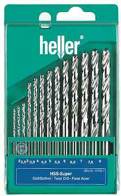 Heller 13 Piece HSS-G Super Twist Drill Bit Set 2mm - 8mm Ground - German Made