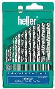 Heller-13-Piece-HSS-G-Super-Twist-Drill-Bit-Set-2mm-8mm-Ground-German-Made