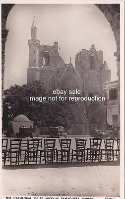 CYPRUS POSTCARD FAMAGUSTA CATHEDRAL OF SAINT NICHOLAS 1950 ANDREAS SOTERIOU