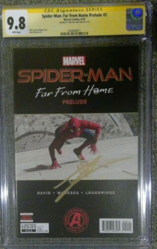Spider-Man: Far From Home Prelude #2__CGC 9.8 SS__Signed by Tom Holland