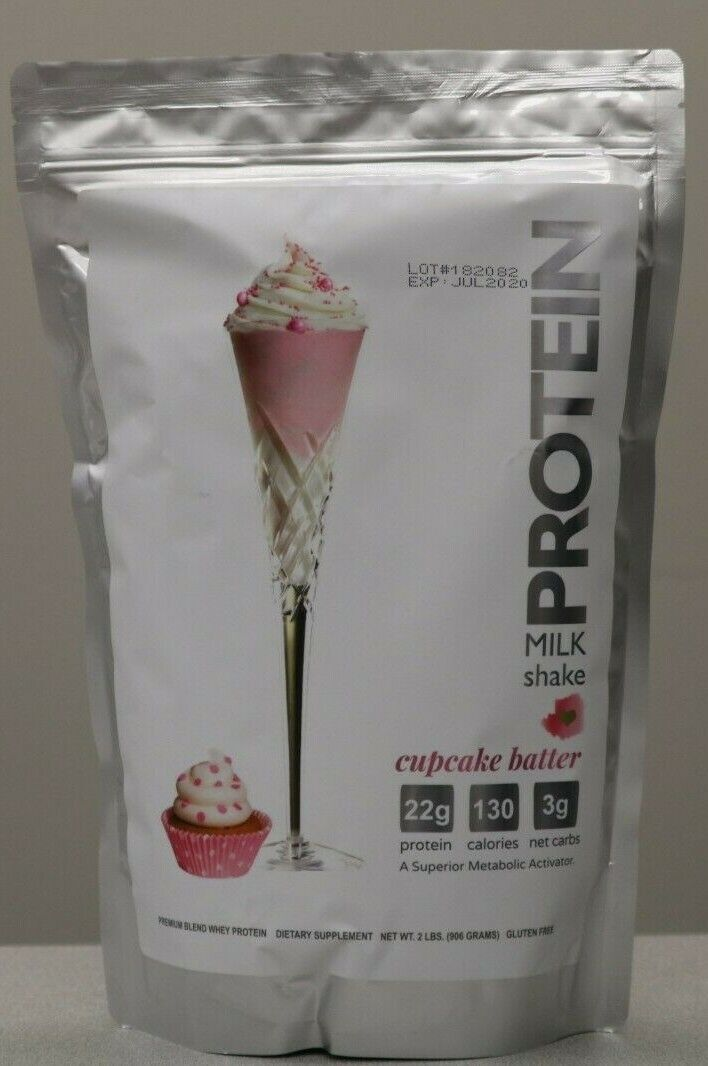 Protein Milkshake Bar Powder 2 LB Bag Cupcake Batter 75% OFF