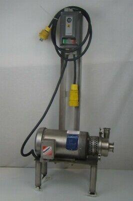 Baldor 2hp Washdown Centrifugal Pump Sanitary Tri-clamp Connections Starter Ss