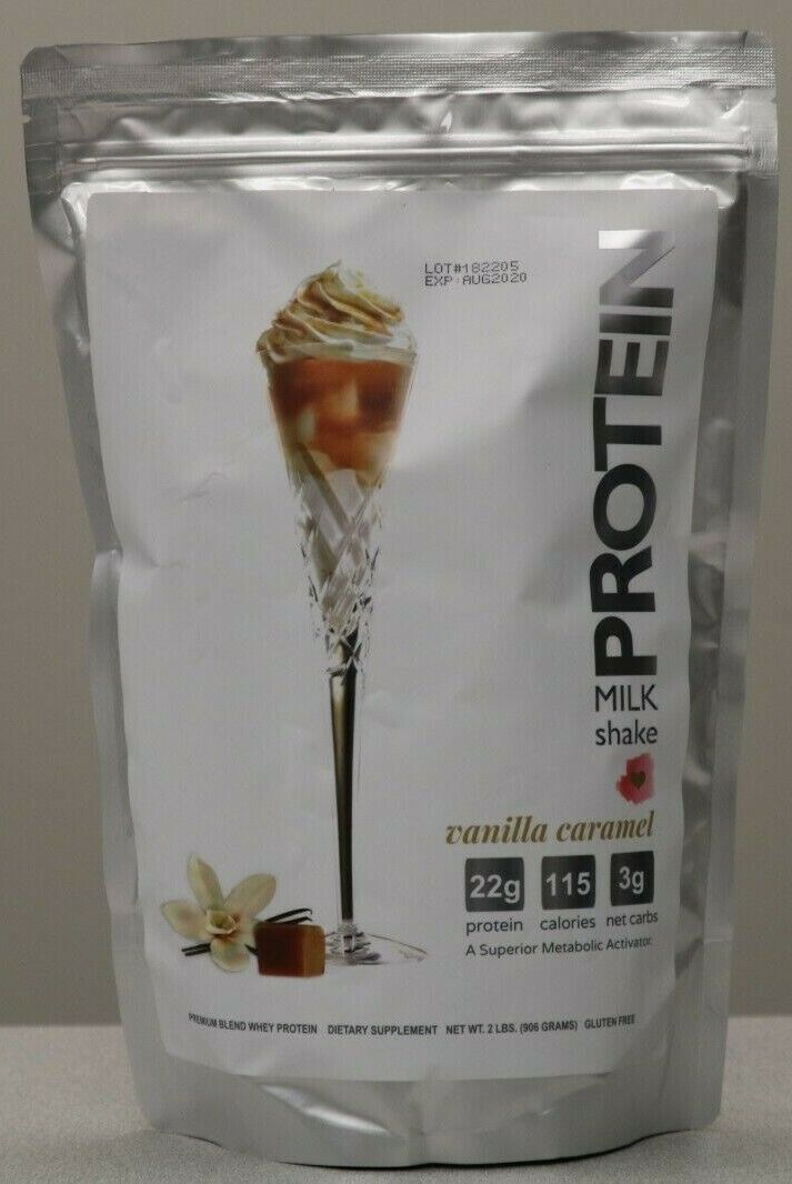 Protein Milkshake Bar Powder 2 LB Bag Vanilla Caramel 75% OF