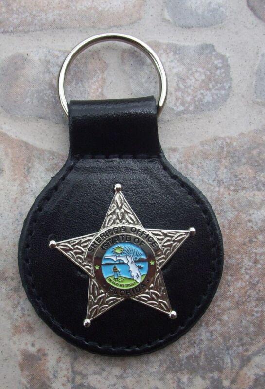 Florida Fla State of FL Sheriff Office Police Mini Star Key Chain - Silver