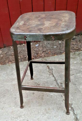 Lyon Vintage Industrial Factory Steel Stool, steel seat  g