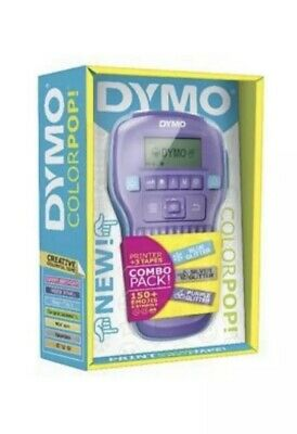 Dymo Color Pop Label Maker - Combo Pack Purple Blue Silver Glitter 150 Emojis