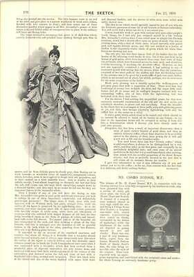 1896 Mr Cosmo Bonsor Mp Try This Springlike Walking Gown