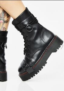 CURRENT MOOD MADHOUSE BUCKLE BOOTS Size 9 NBW/NIB