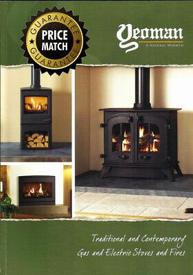 YEOMAN Gas and Electric Log Wood Burning, Coal Effect Stove Brochure Birmingham