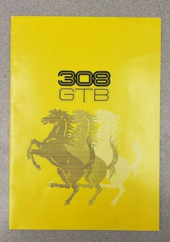 1976  Ferrari  308 GTB Dealership Sales Catalog