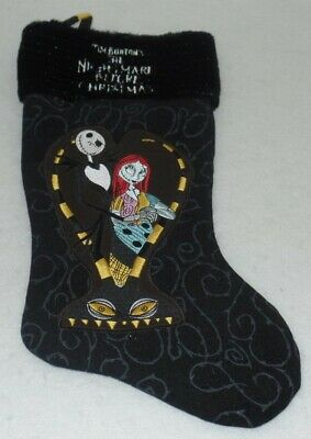 Nightmare Before Christmas Stocking - Embroidered Collectible - Jack Sally - New