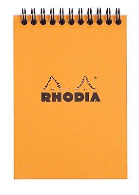 Rhodia Wirebound Notebook 6 X 8 Graph Orange