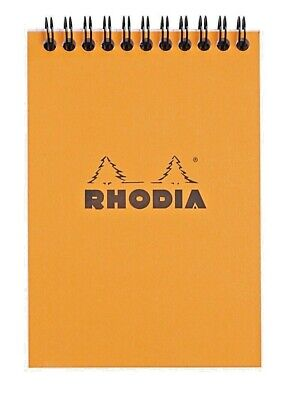Rhodia Wirebound Notebook 6 X 8 Graph Orange