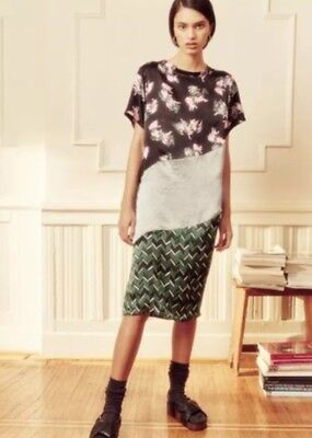 A Peace Treaty Kato Silk Print Dress M