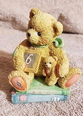 Cherished Teddies Chalking Up Six Wishes Age 6 Birthday Bear Figurine 911283