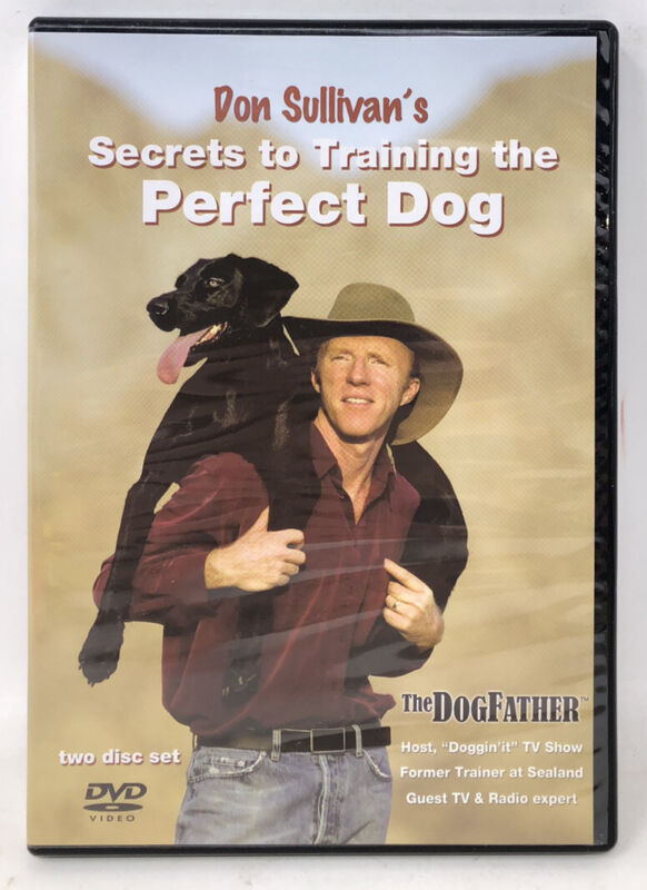 Don Sullivans Secrets to Training the Perfect Dog 2-DVD Set Puppy Rare Free S/H