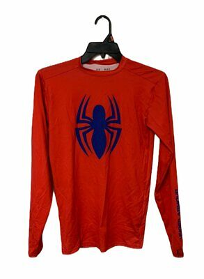 Under Armour Men's Alter Ego Compression Long Sleeve Shirt, Red,