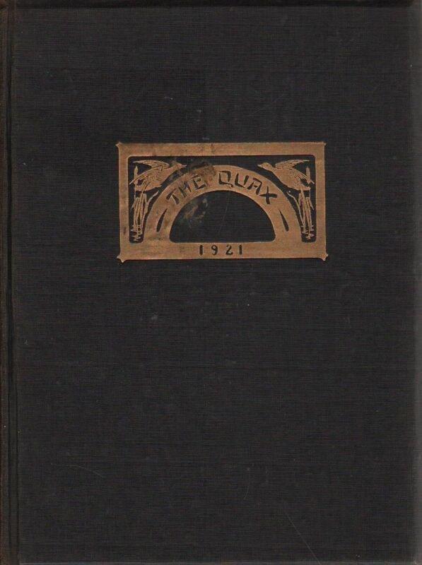 College Yearbook Drake University Des Moines Iowa Quax 1921