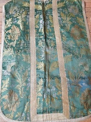ANTIQUE TEXTILES- CIRCA 18-19THC. SILK CHAUSUBLE.MUSEUM DEACCESSION